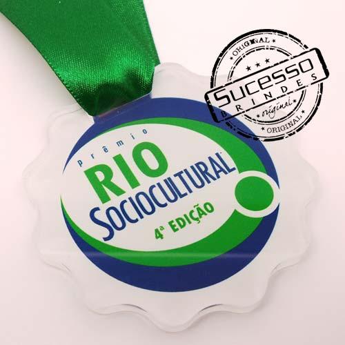 Medalha em acrílico para premiação de competições Rio