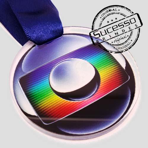 Medalha em acrílico para premiação de competições tv Rede Globo