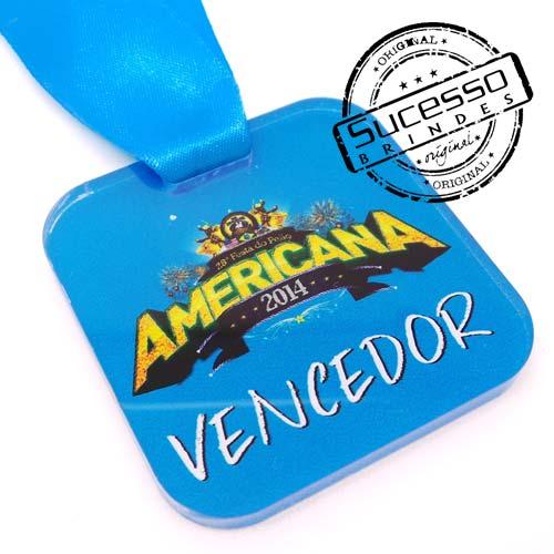 Medalha em acrílico para premiação de competições Vencedor