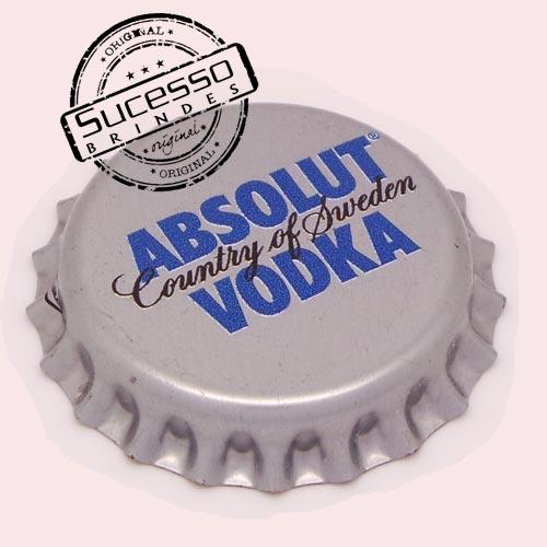 Pin em metal no formato de tampa de garrafa personalizado, tampinha, refrigerante, abridor de garrafa, , Absolut Vodka