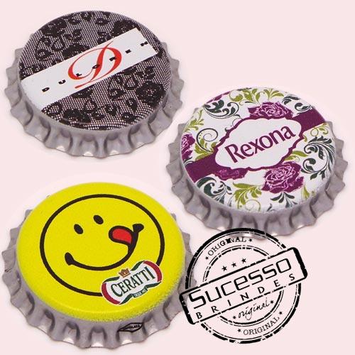 Pin em metal no formato de tampa de garrafa personalizado, tampinha, refrigerante, abridor de garrafa, Cerati, Rexona