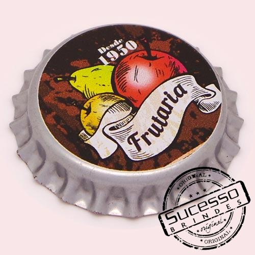 Pin em metal no formato de tampa de garrafa personalizado, tampinha, refrigerante, abridor de garrafa, frutaria