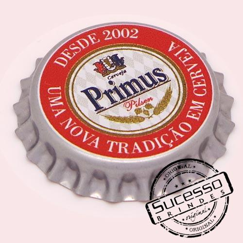 Pin em metal no formato de tampa de garrafa personalizado, tampinha, refrigerante, abridor de garrafa, cerveja, Primus