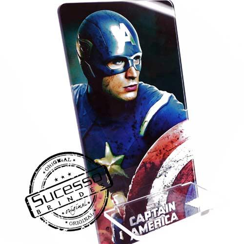 Suporte porta celular filme Marvel Capitão América Porta Celular, Acessório para celular, para Iphone, Samsung Galaxi, Nókia, Lg, Sony, Marvel