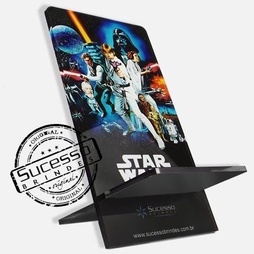 Suporte porta celular Brasil filme Star Wars, Guerra nas estrelas Porta Celular, Acessório para celular, para Iphone, Samsung Galaxi, Nókia, Lg, Sony