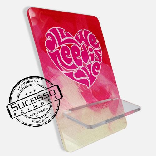 Suporte porta celular Brasil amor, coração Porta Celular, Acessório para celular, para Iphone, Samsung Galaxi, Nókia, Lg, Sony