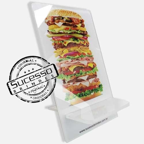 Suporte porta celular restaurante, sanduiche Porta Celular, Acessório para celular, para Iphone, Samsung Galaxi, Nókia, Lg, Sony