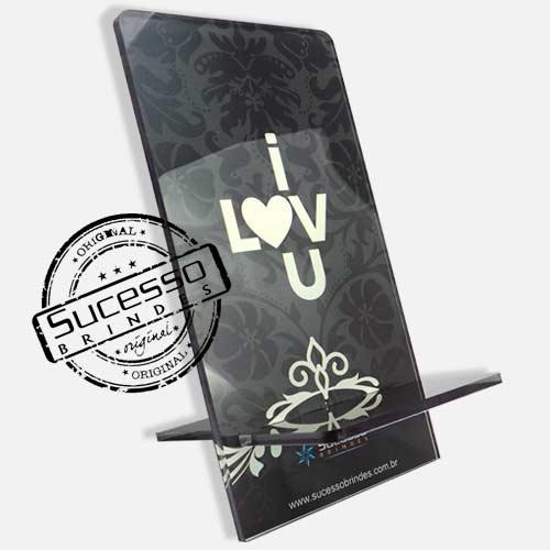 Suporte porta celular I love you Porta Celular, Acessório para celular, para Iphone, Samsung Galaxi, Nókia, Lg, Sony
