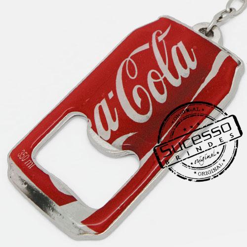 Abridor de garrafa em metal no formato de lata, cerveja, refrigerante, Coca Cola