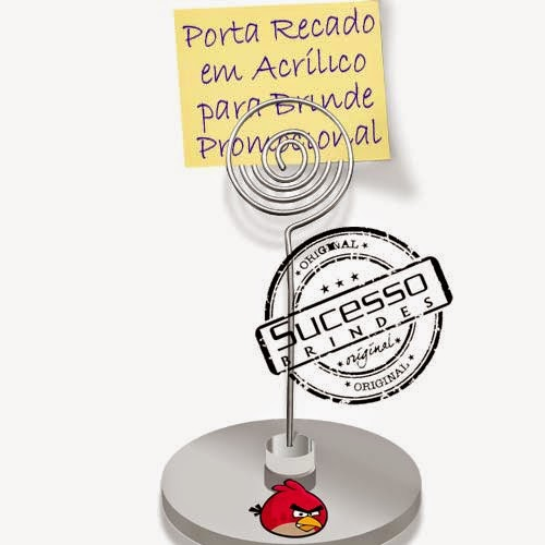 Porta recados, porta recado, suporte para recado personalizado Angry Birds