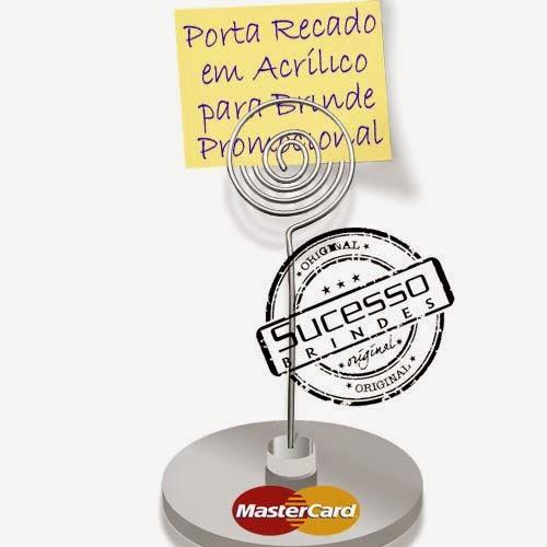 Porta recados, porta recado, suporte para recado personalizado master card