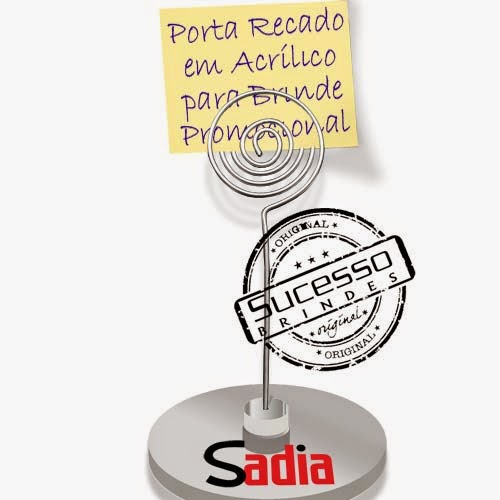 Porta recados, porta recado, suporte para recado personalizado Sadia