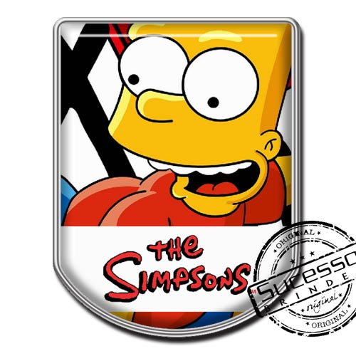 Pin em Metal Adesivado, Modelos padrão, broche, escudo, brasão, Simpsons