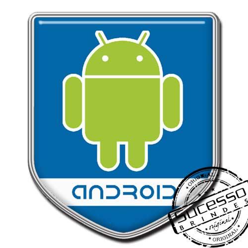 Pin em Metal Adesivado, Modelos padrão, broche, escudo, brasão, informática, computador, sistema operacional, Android