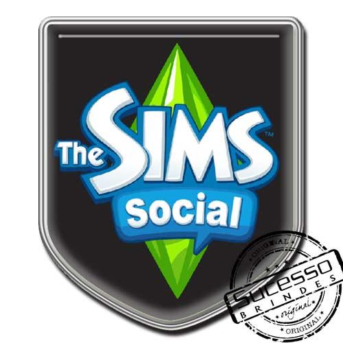 Pin em Metal Adesivado, Modelos padrão, broche, escudo, brasão, The Sims