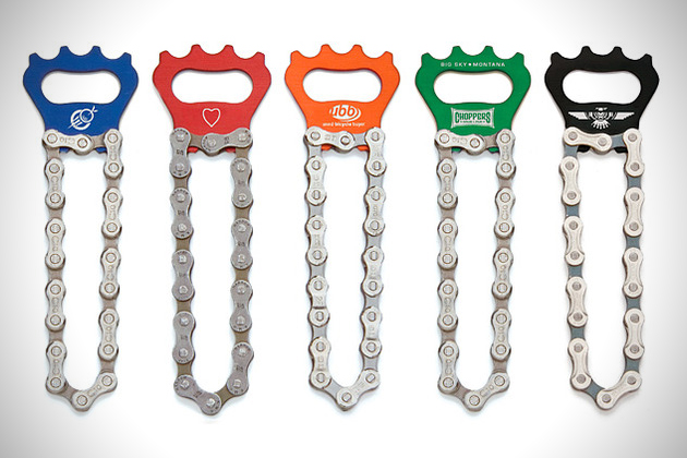 Recycled-Bike-Chain-Bottle-Opener