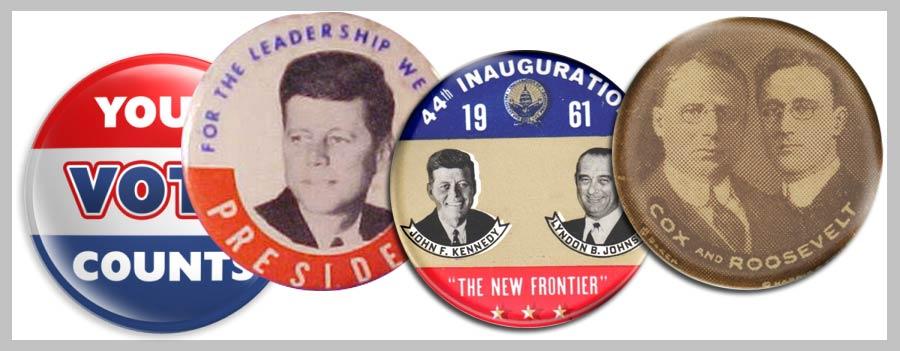 botton-americano--antigo-política-personalizado-politica