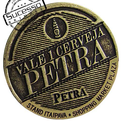 Moeda comemorativa, moeda personalizada, moeda em metal, moeda para premiação cerveja petra