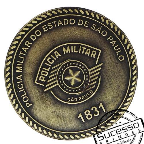 Moeda comemorativa, moeda personalizada, moeda em metal, moeda para premiação, moeda para comemoração, polícia, batalhão, moeda da polícia militar
