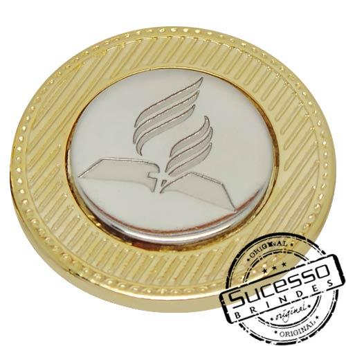 Moeda comemorativa, moeda personalizada, moeda para premiação, moeda dourada, moeda para igreja, moeda religiosa, dizimo, moeda da igreja adventista, adventista do sétimo dia, moeda religião