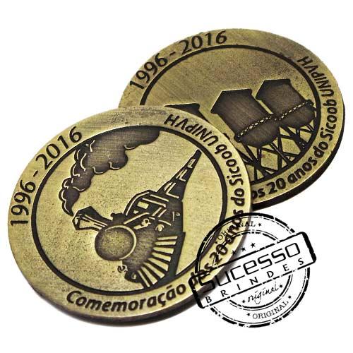 Moeda comemorativa, moeda personalizada, moeda em metal, moeda para premiação, moeda para comemoração, trem