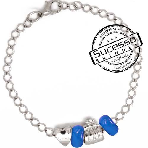 Pulseira Pandora, estilo pandora, bijuteria, pandora personalizada, pulseira com pingentes, pulseira com berloques, bracelete pandora, bracelete com pingente, pulseira para brinde, pulseira promocional, pulseira personalizada, coração, bolsa, bolsinha
