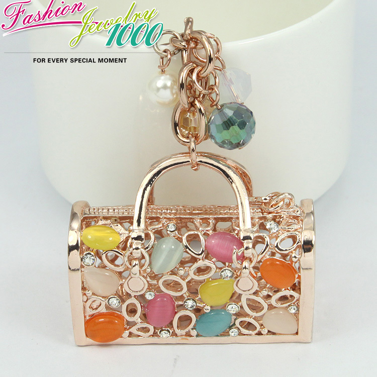 Novelty-Crystal-Hollow-Bead-Handbag-Keychains-Keyring-Fashion-Rhinestone-Bag-Metal-Key-Chain-Ring-Gift-Jewelry