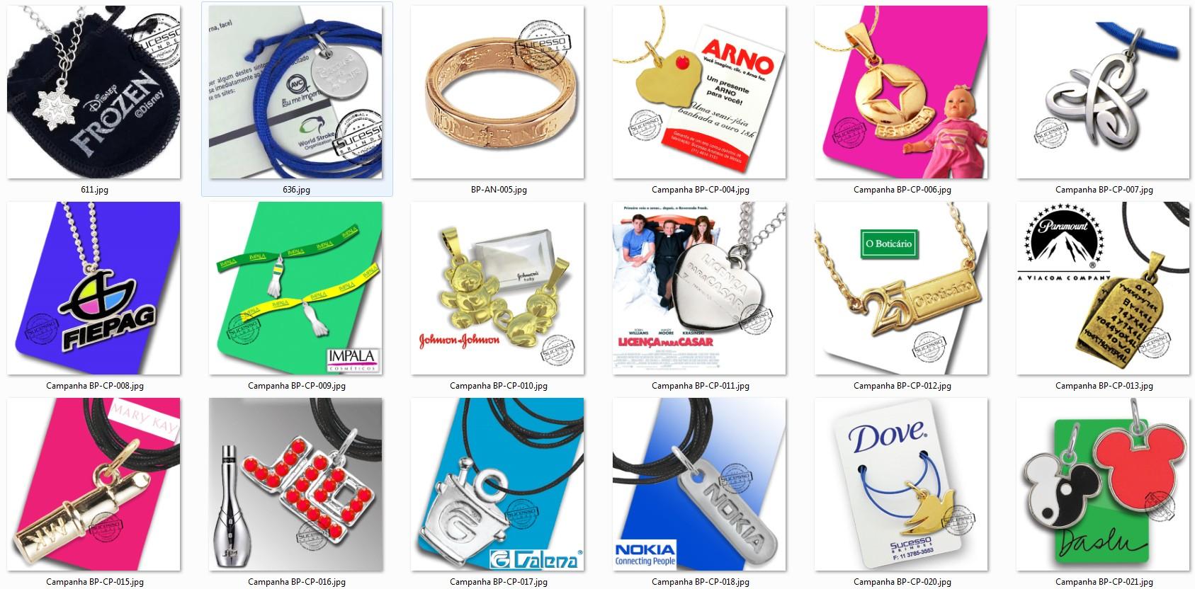 bijuteria promocional personalizada anel pulseira corrente pingente 1