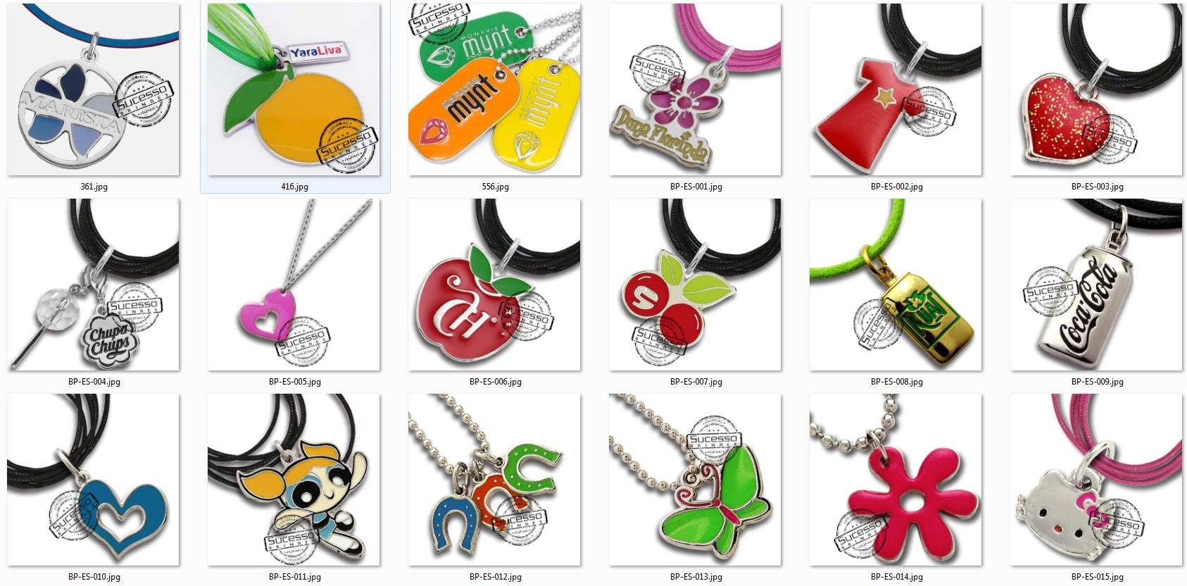 bijuteria promocional personalizada anel pulseira corrente pingente 3