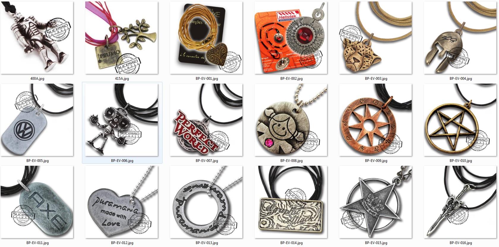 bijuteria promocional personalizada anel pulseira corrente pingente 4