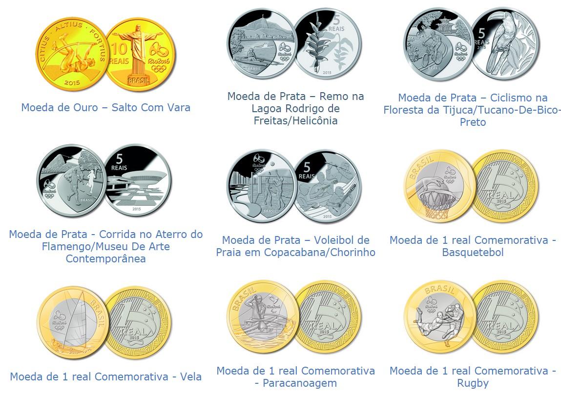 moedas comemorativas olimpiadas 2016 brasil