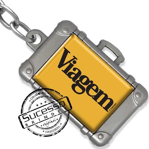 Chaveiro em metal viagem personalizado com seu logo, pises, turismo, Paris, mala de viagem,