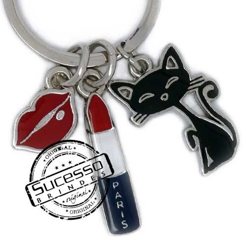 Chaveiro em metal viagem personalizado com seu logo, pises, turismo, Paris, boca, gato
