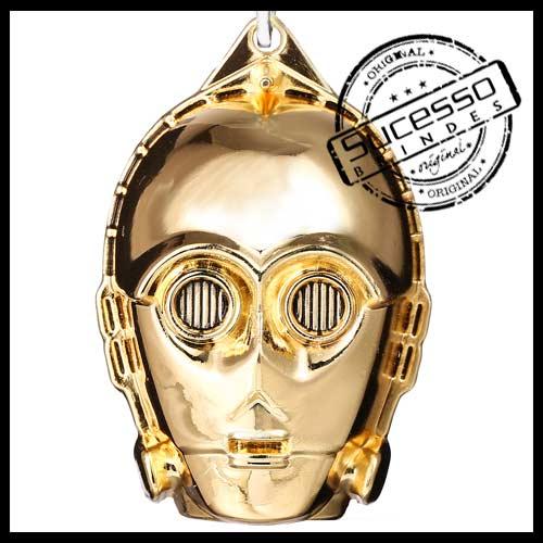 Chaveiro metálico fabricado em metal zamak para filme de cinema e estúdio, modelo Guerra nas Estrelas, Star Wars, C3PO