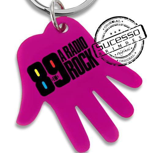 chaveiro mão, chaveiro mãozinha, chaveiro palma da mão, chaveiro no formato de mão, chaveiro 89 rádio rock