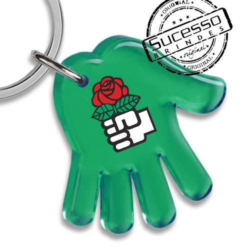 chaveiro mão, chaveiro mãozinha, chaveiro palma da mão, chaveiro no formato de mão, chaveiro instituição, chaveiro filantrôpico