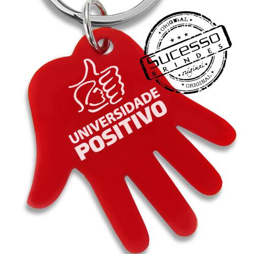 chaveiro mão, chaveiro mãozinha, chaveiro palma da mão, chaveiro no formato de mão, chaveiro positivo, chaveiro colégio positivo, chaveiro universidade positivo