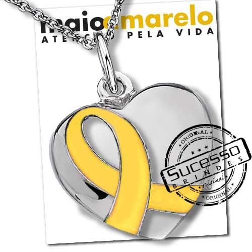 brinde lacinho amarelo, laço maio amarelo, chaveiro laço amarelo, pingente laço amarelo, colar laço amarelo, corrente com pingente laço, pingente laço amarelo, bijuteria laço amarelo, botton laço amarelo, pulseira laço amarelo, maio amarelo, laço, lacinho, consciencia, conscientização