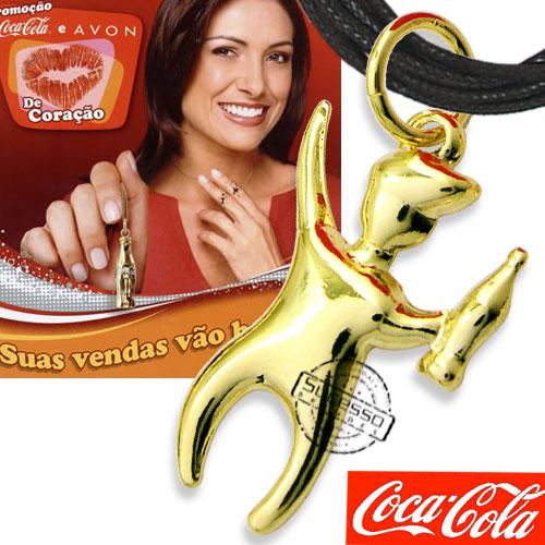 pingente avon, pingente coca cola, colar coca cola, colar avon