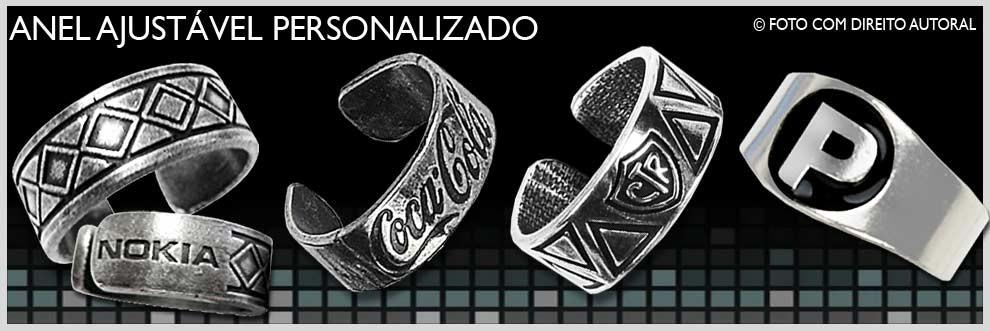 bijuteria em metal anel personalizado