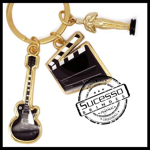 chaveiro-em-metal-personalizado-brinde-para-cinema-filme-estatua-oscar-claquete-estatueta-guitarra