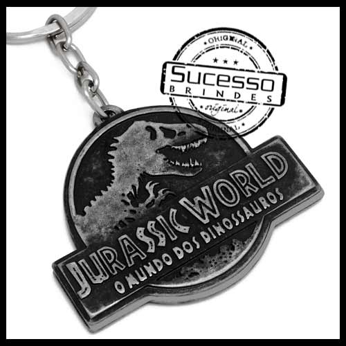 chaveiro-em-metal-personalizado-brinde-para-cinema-filme-jurassic-park-world-dinossauros