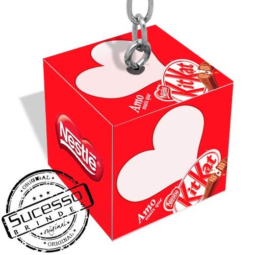 caveiro cubo, chaveiro quadrado, chaveiro dado, chaveiro 3d, chaveiro ecológico, chaveiro personalizado, chaveiro sustentável, chocolate, nestle, kitkat, box