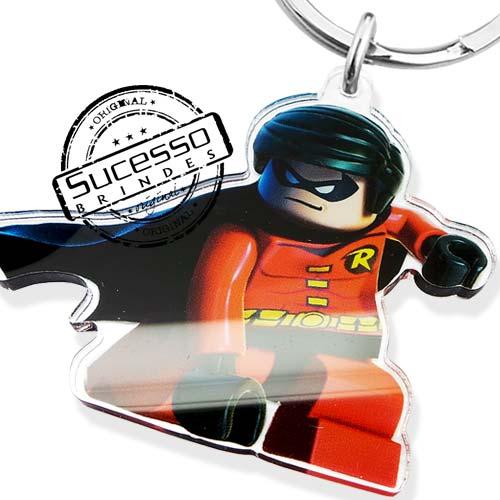 chaveiro em acrílico, impressão uv, personagem, chaveiro com personagem, recortado a laser, robin, batman, filme, cinema marvel, personagem