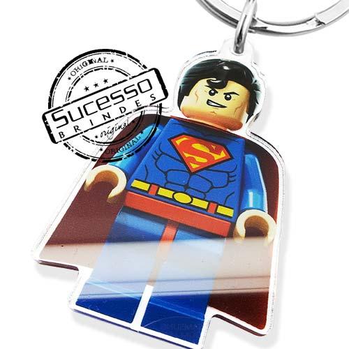 chaveiro em acrílico, impressão uv, personagem, chaveiro com personagem, recortado a laser, super homen, super man, filme, cinema marvel, personagem