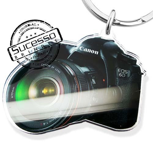 chaveiro em acrílico, impressão uv, foto, photo, canon, chaveiro máquina fotográfica, máquina fotográfica, fotografia, recortado a laser