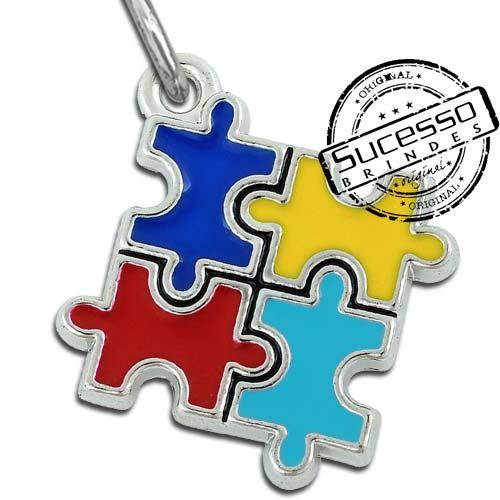 Pingente quebra cabeça, puzzle, autismo,