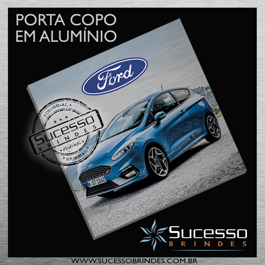 PORTA-COPO-EM-ALUMÍNIO-SUCESSO-BRINDES-CARRO-FORD