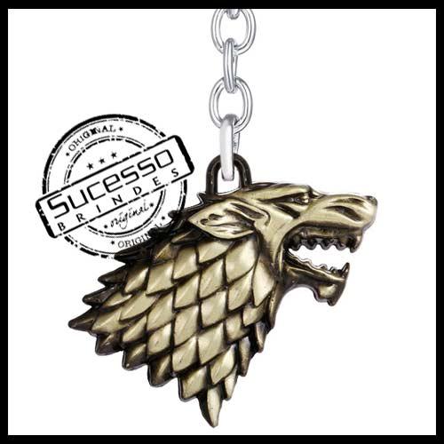 chaveiro-em-metal-personalizado-brinde-para-cinema-serie-filme-game-Game-of-Thrones-stark-lobo