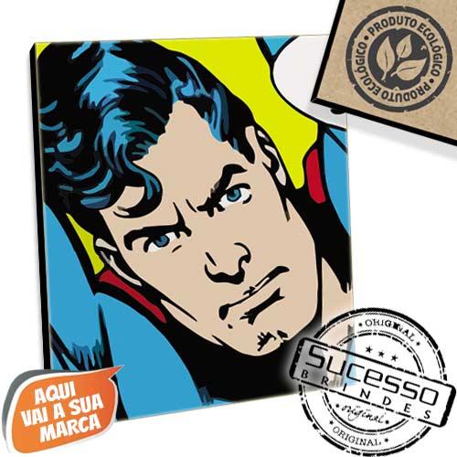 Placa em mdf, placa ecológica, produto ecológico, brinde ecológico, placa para parede, mini quadro, quadro, quadrinho, ecológica, personagem, super homem, comics, marvel, nerd, geek